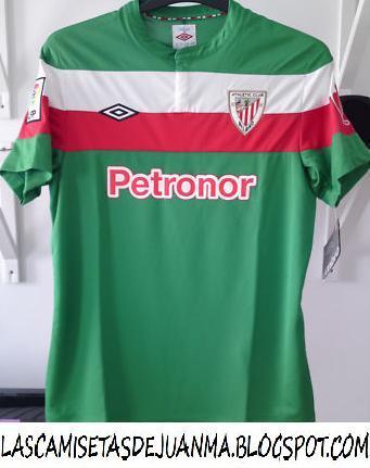 1ec83fdc9ea55 Mi colección de camisetas de fútbol  2ª camiseta Athletic de Bilbao ...