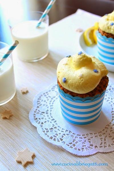 cupcake poppy seed citrus con frosting al limoncello