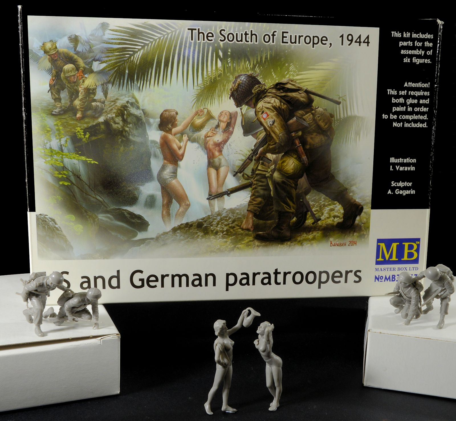 Construction Review Masterbox 35157 The South Of Europe 1944 Us And German Paratroopers