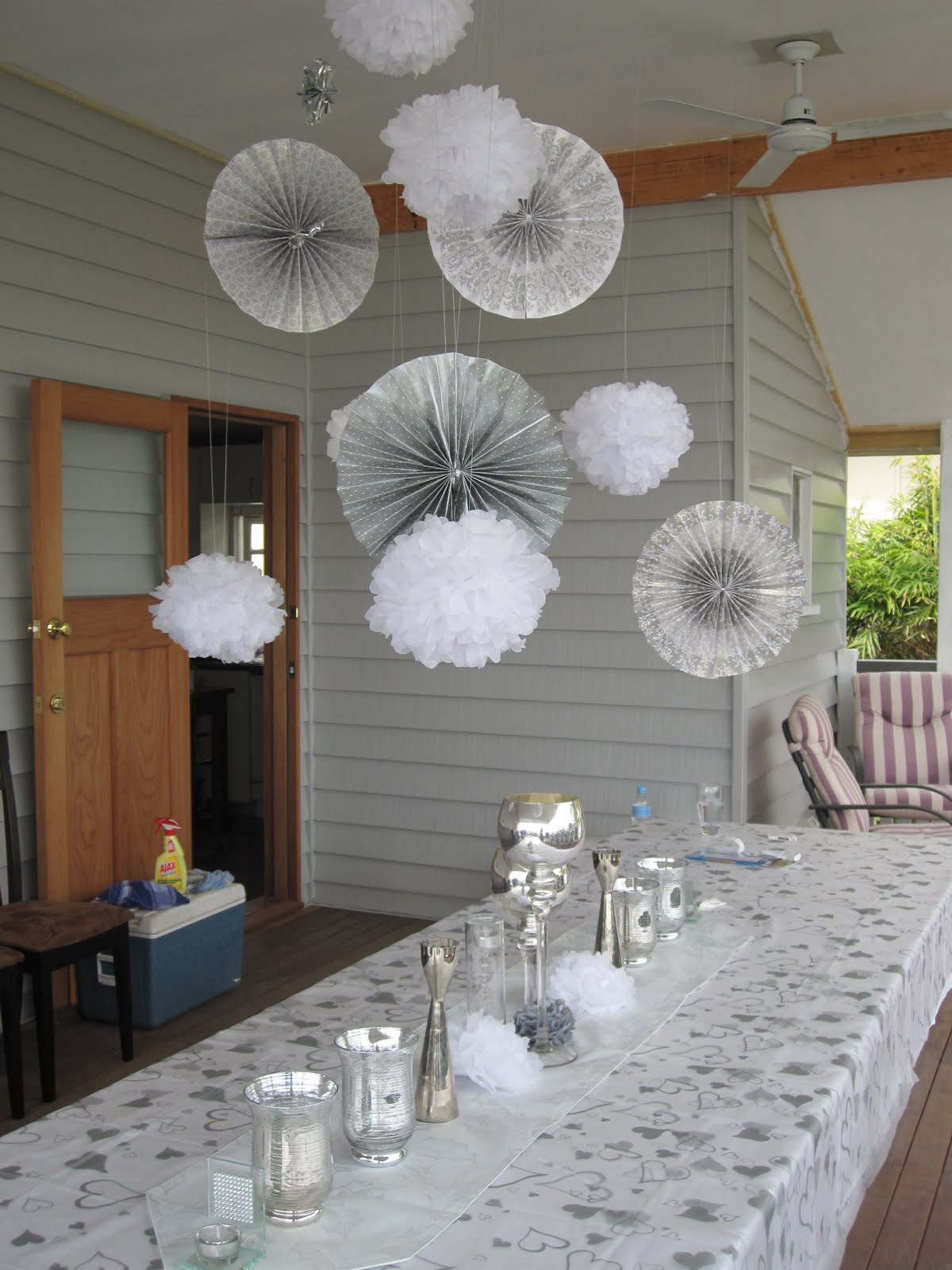 Cassadiva A Silver & White Engagement Party