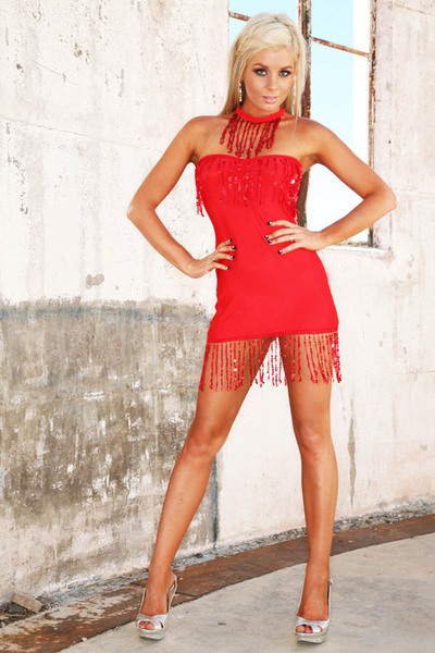 Sequin Tube Dress