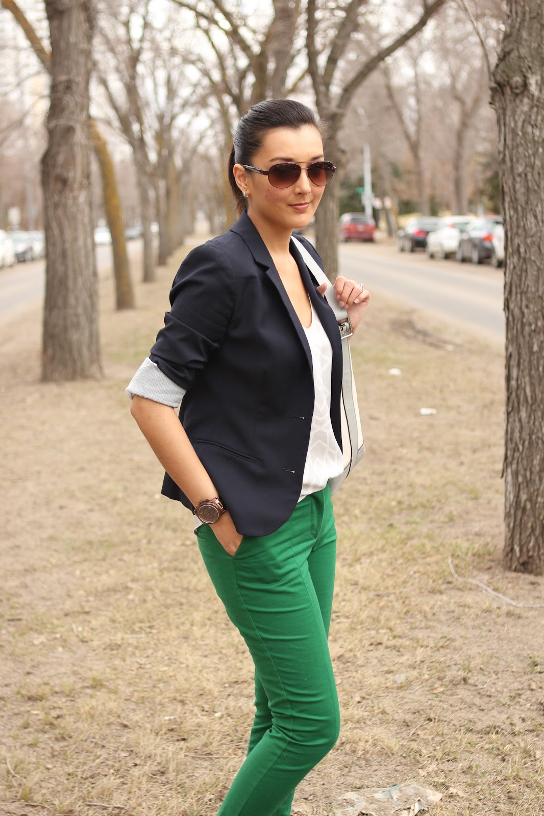 green pants combination - Pi Pants