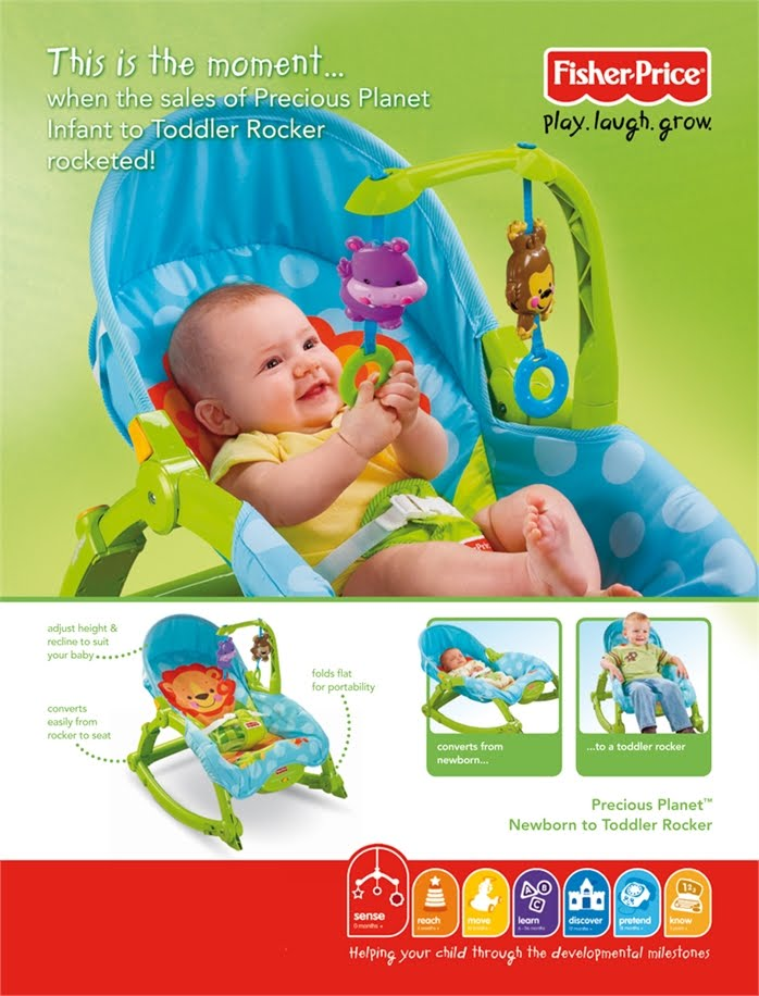 FP Baby Rocker Green (Plastic Body)