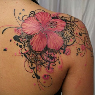 flower tattoos on shoulder