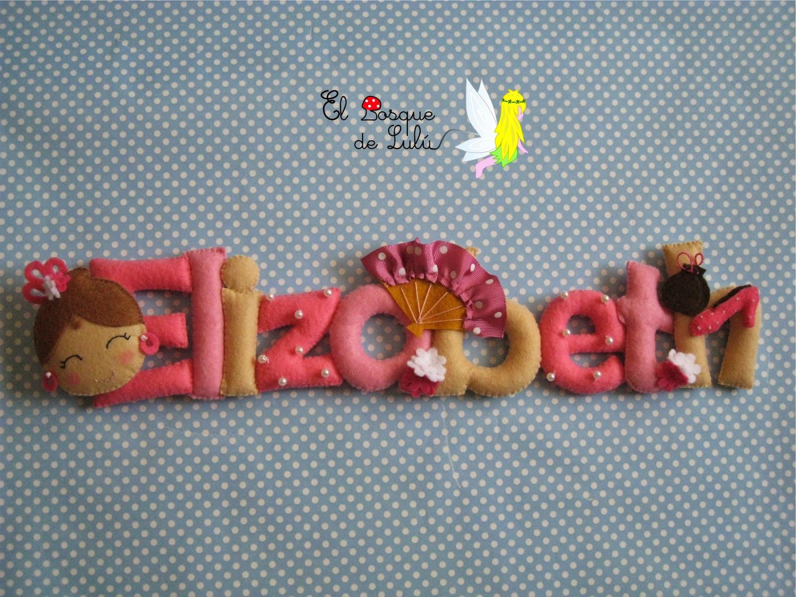 nombre-decorativo-fieltro-Elizabeth-flamenco-infantil-decoración-detalle-nacimiento