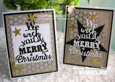 2 Christmas Card Versions using the Same Color Combo