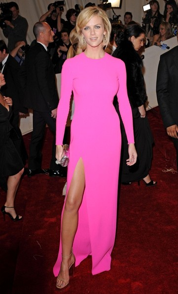 Brooklyn Decker in a hot pink Michael Kors gown at the 2011 Met Gala.