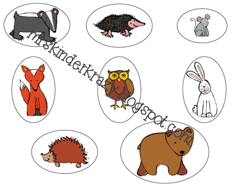 Animal Cut-outs: put them in the mitten accordingly as you read the ...