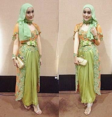 Model baju muslim kebaya modern untuk wisuda yang casual