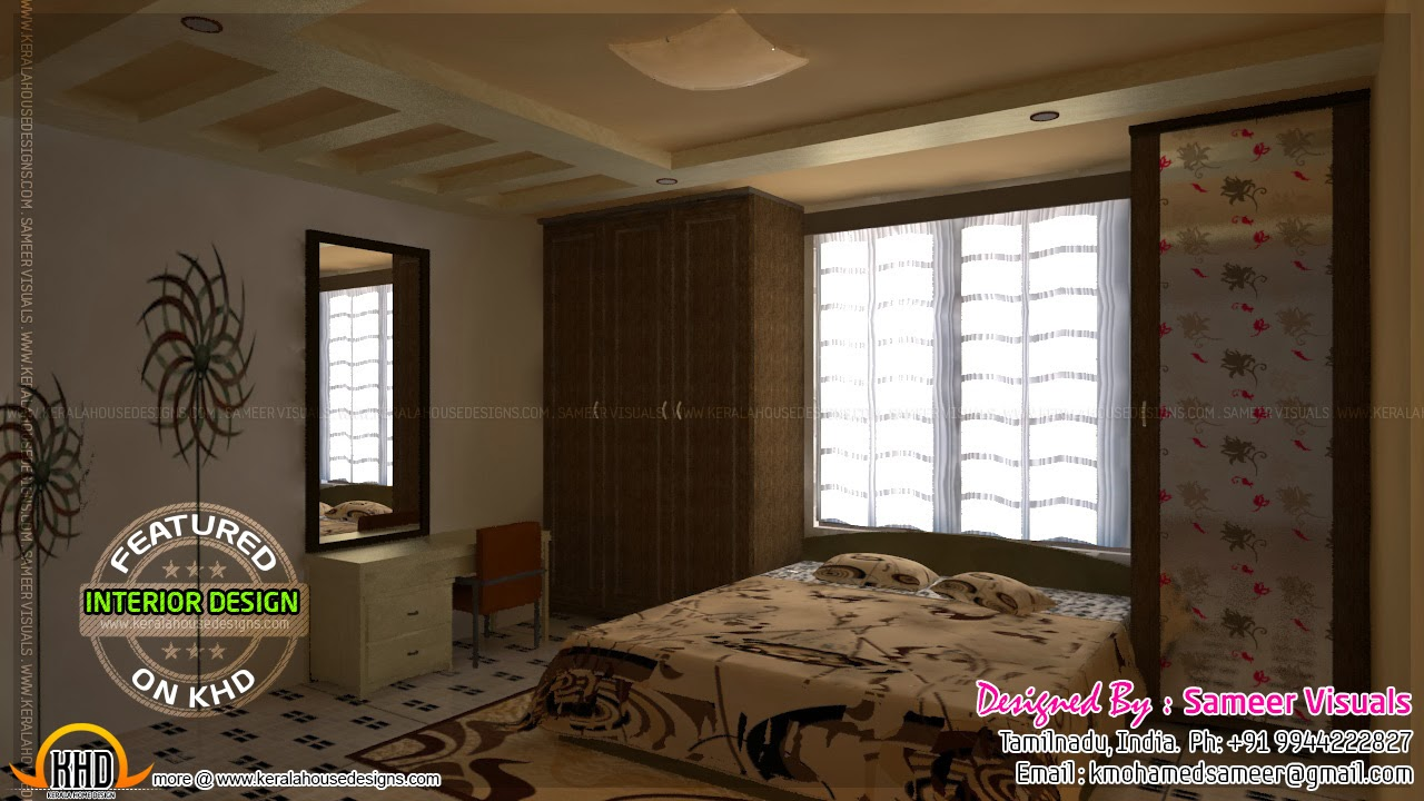Kerala home design and floor plans interior decoration india for Interior design bedroom kerala style