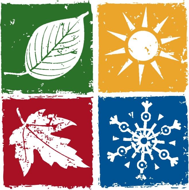 Primavera, verão, outono e inverno.