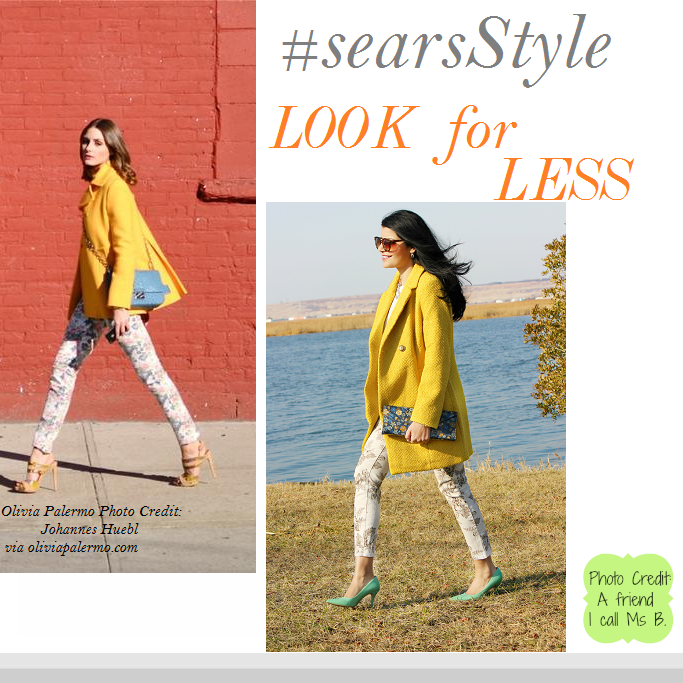 Olivia Palermo Yellow Coat, Olivia Palermo Look For Less, #ThisisStyle #Cbias  #shop