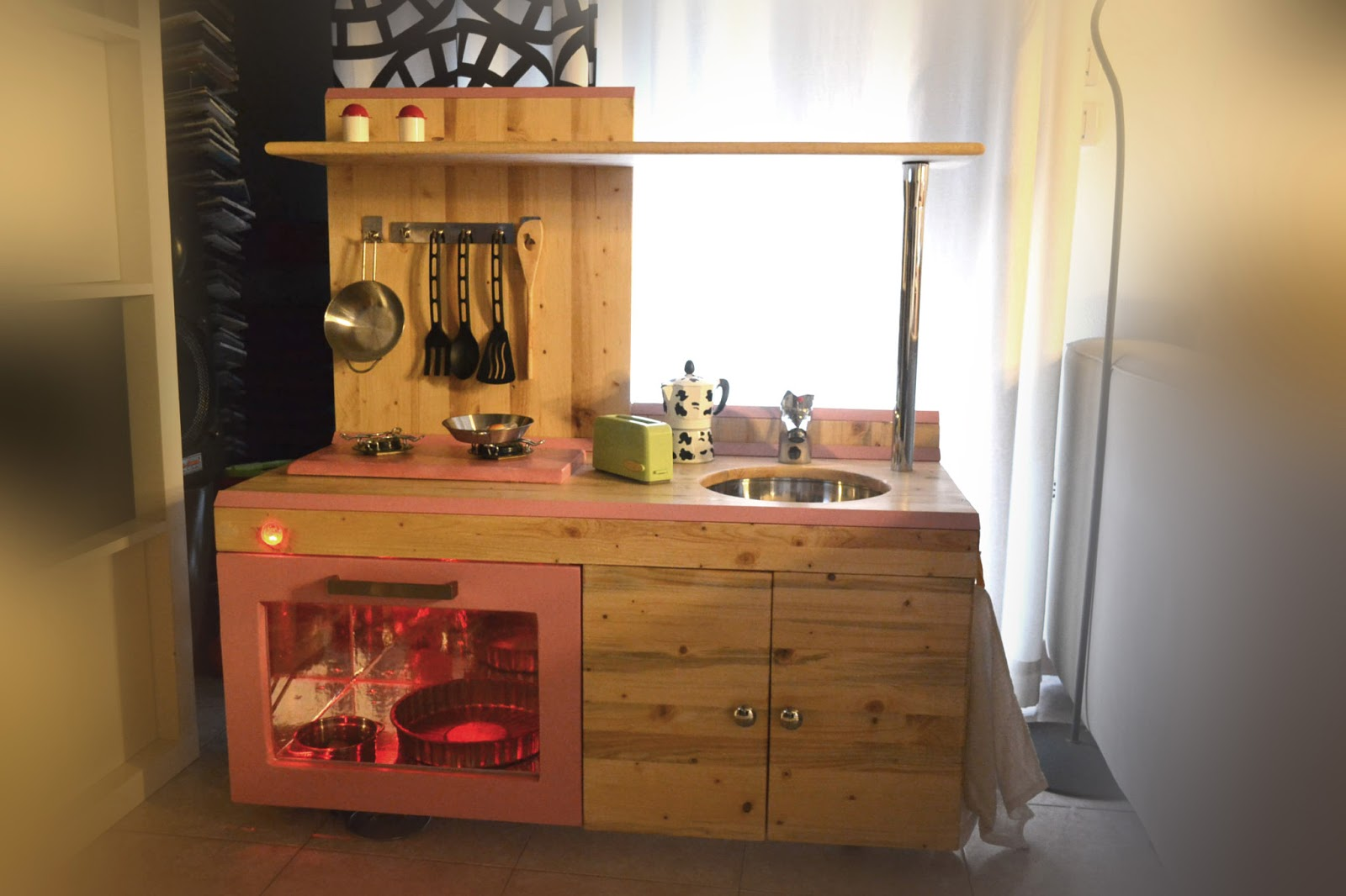 Mammarum come costruire una cucina per bambini di legno - Cucine fai da te in legno ...