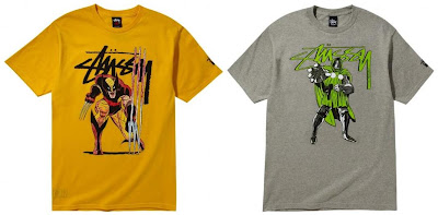 Marvel Comics x Stussy Collection Series 1 - Wolverine & Doctor Doom T-Shirts