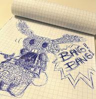 Bang bang, bunny, lapinouxx city, doodle, funny