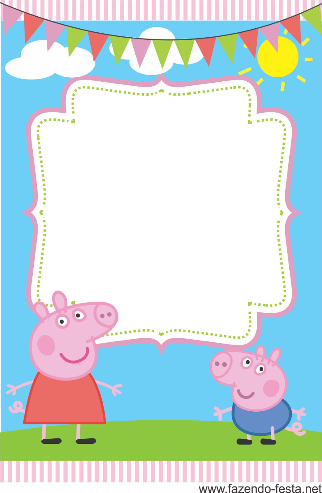 It's just a graphic of Irresistible Peppa Pig Printable Invitations