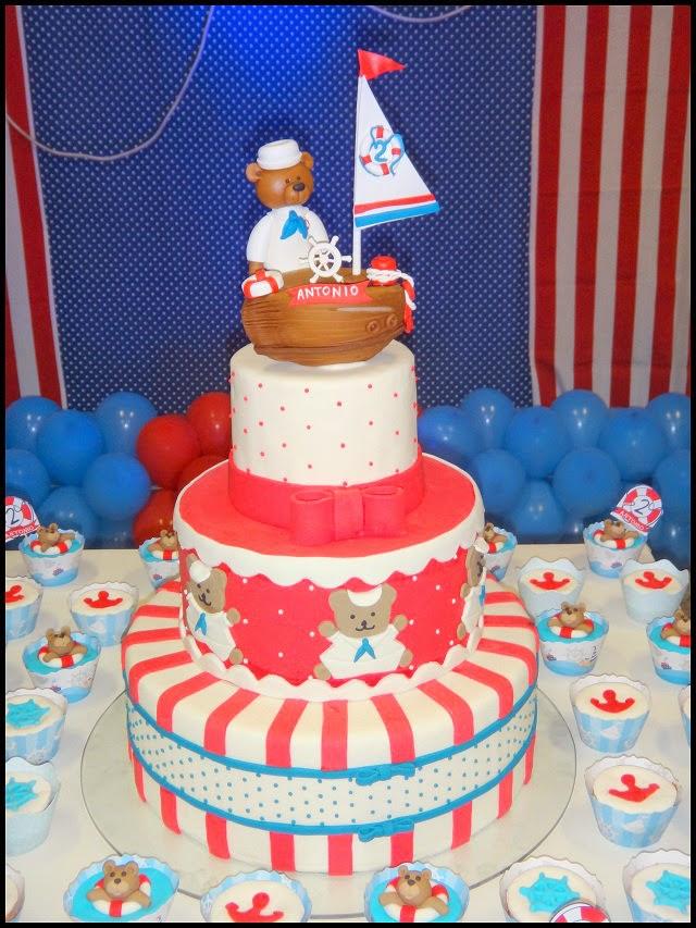 festa infantil, decoração de festa infantil, ursinho marinheiro