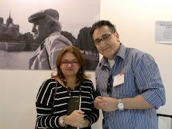 Com Paloma Amado, filha de Jorge Amado, na Feira do Livro em Buenos Aires