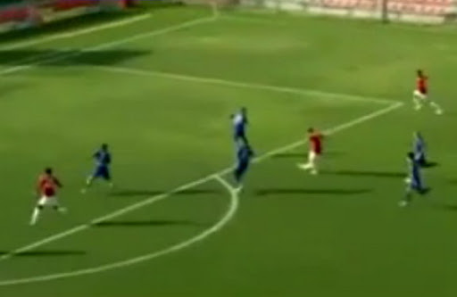 Mirko Oremuš scores for Hapoel Tel Aviv just seven seconds into the second-half