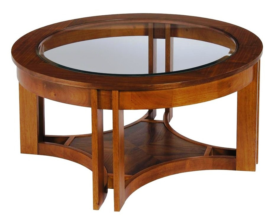 Round modern coffee tables What to put on a round coffee table