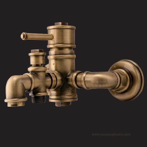 Grifo rustico lavabo alto bronce cobre fuente loft