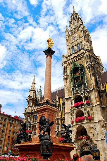 Munich, Germany. This is the Glockenspiel in Marienplatz, basically a giant cuckoo clock in the middle of the city's shopping district