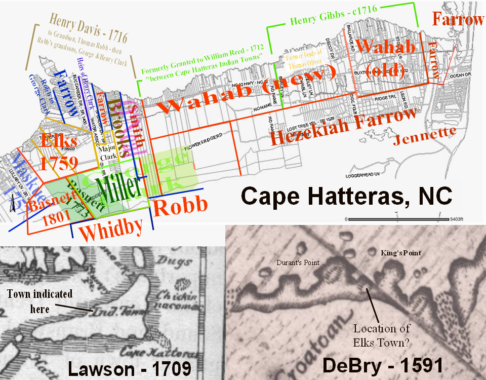 Deeds Researched By Lost Colony Research Group Map Plotted By Baylus C Brooks 2009 2010 The Elks Grant Of 1759 Plus The Farrow And Robb Clark