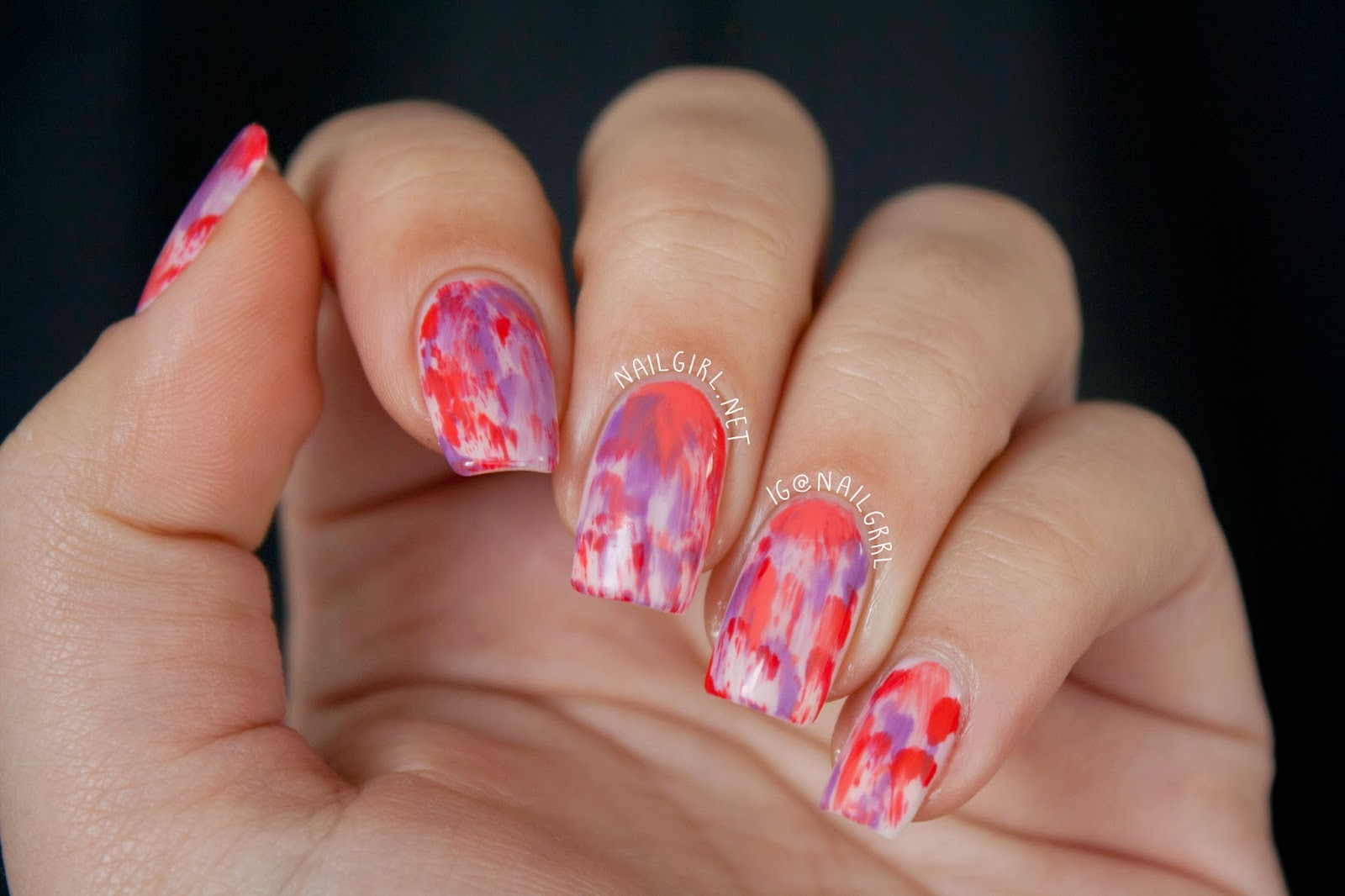 Nail Art Dry Brush Stroke Manicure Alexis Adrienne