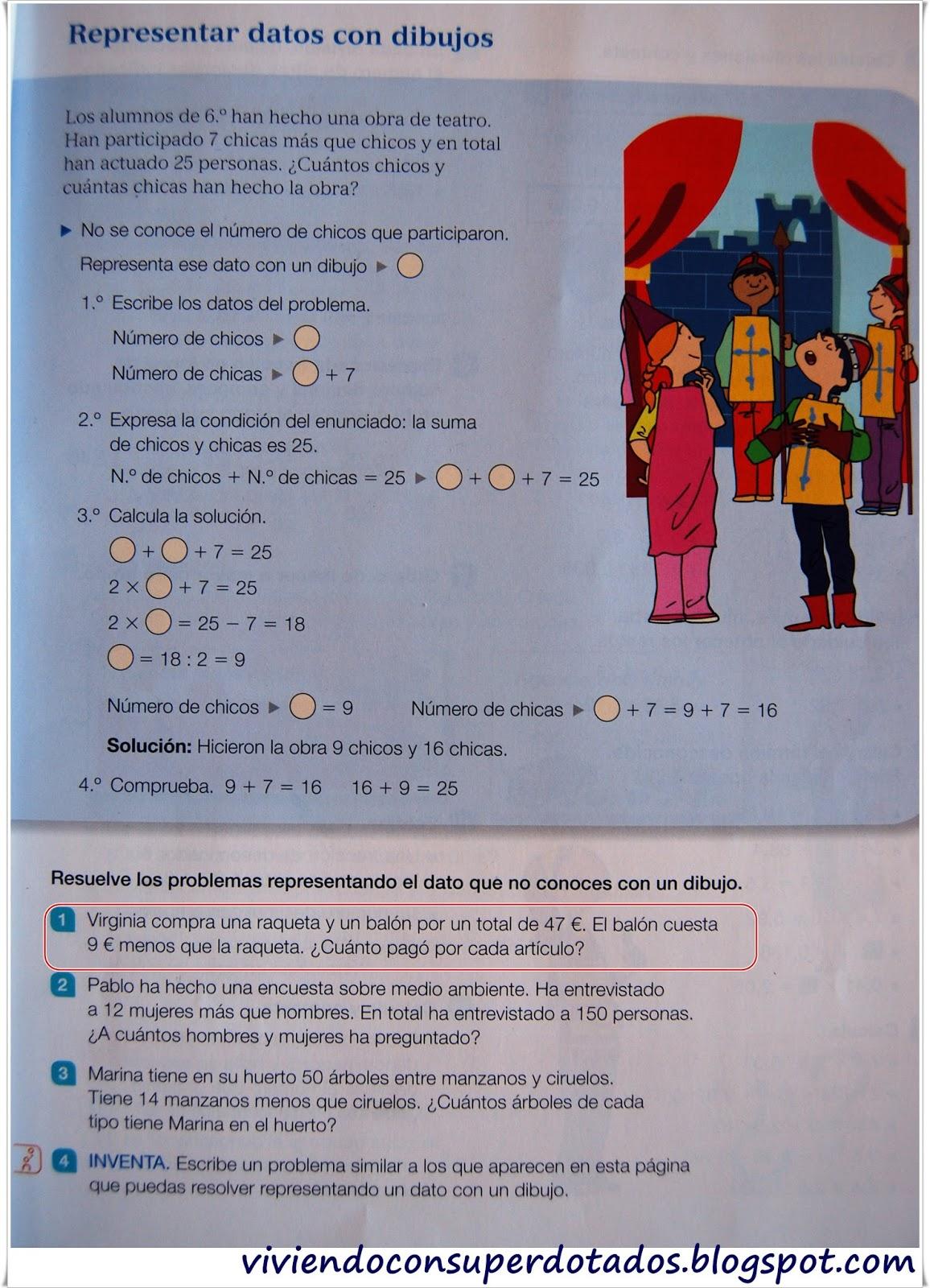 Viviendo con superdotados: Problemas de matemáticas de sexto de primaria