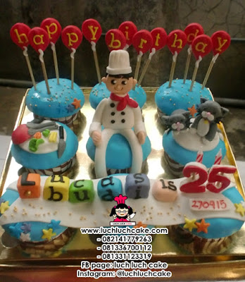 Cupcake Tema Koki Daerah Surabaya - Sidoarjo