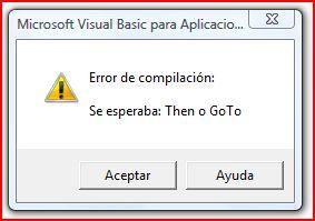 Vb Para Aplicaciones Excel Enfrentarse A Los Errores