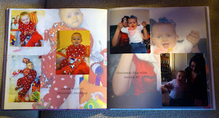 Vistaprint photobook double page xmas example