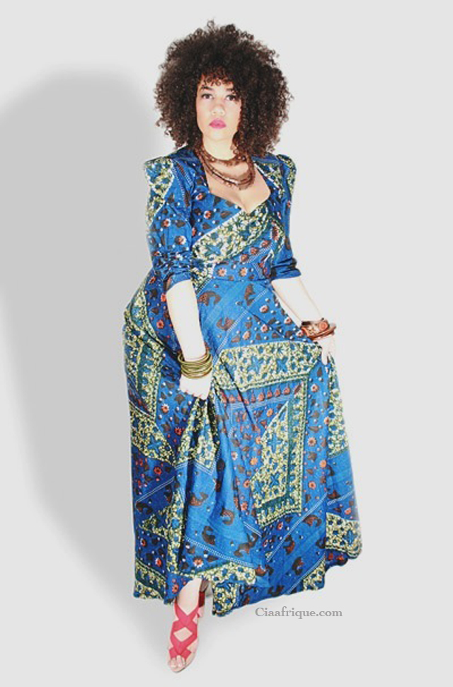 plus size african print  fashion dress by dear curve