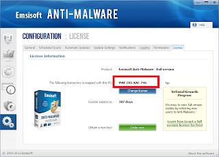 Serial Emsisoft Anti malware Seumur Hidup