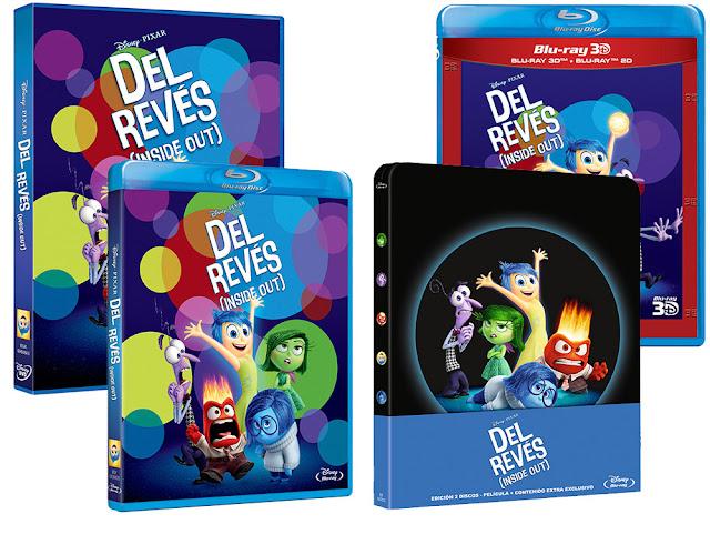 A la venta 'Del Revés (Inside Out)' en DVD, Blu-ray, Blu-ray 3D y edición metálica