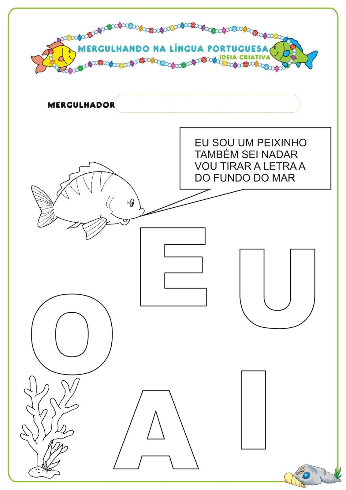 Top Caderno de Atividades Língua Portuguesa Projeto no Fundo do Mar  VC78