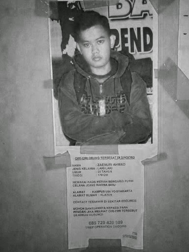 Zaenuri Ahmad Mahasiswa UIN yang Hilang