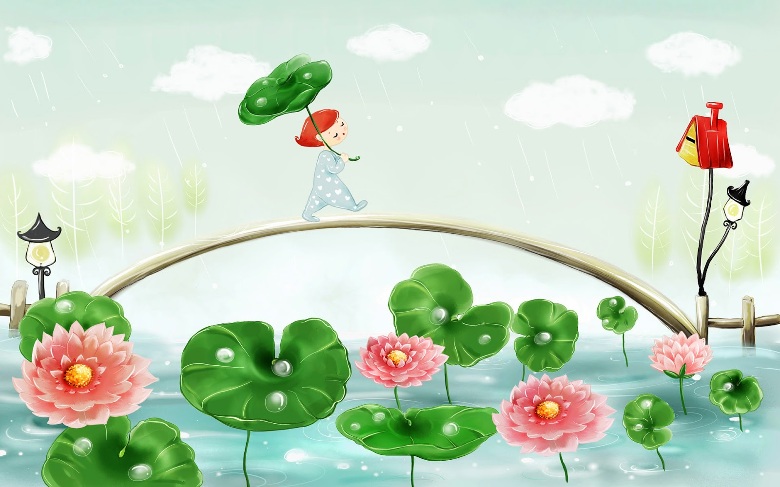 Free Cartoon Spring Summer Backgrounds