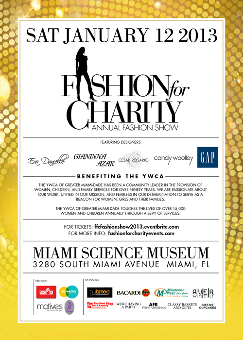 Fashion for Charity 2013 flyer