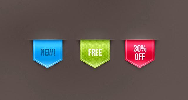 Free PSD Web Ribbon Sale