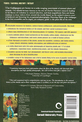 Flowering Plants of the Galapagos by Conley K. McMullen - Back Cover