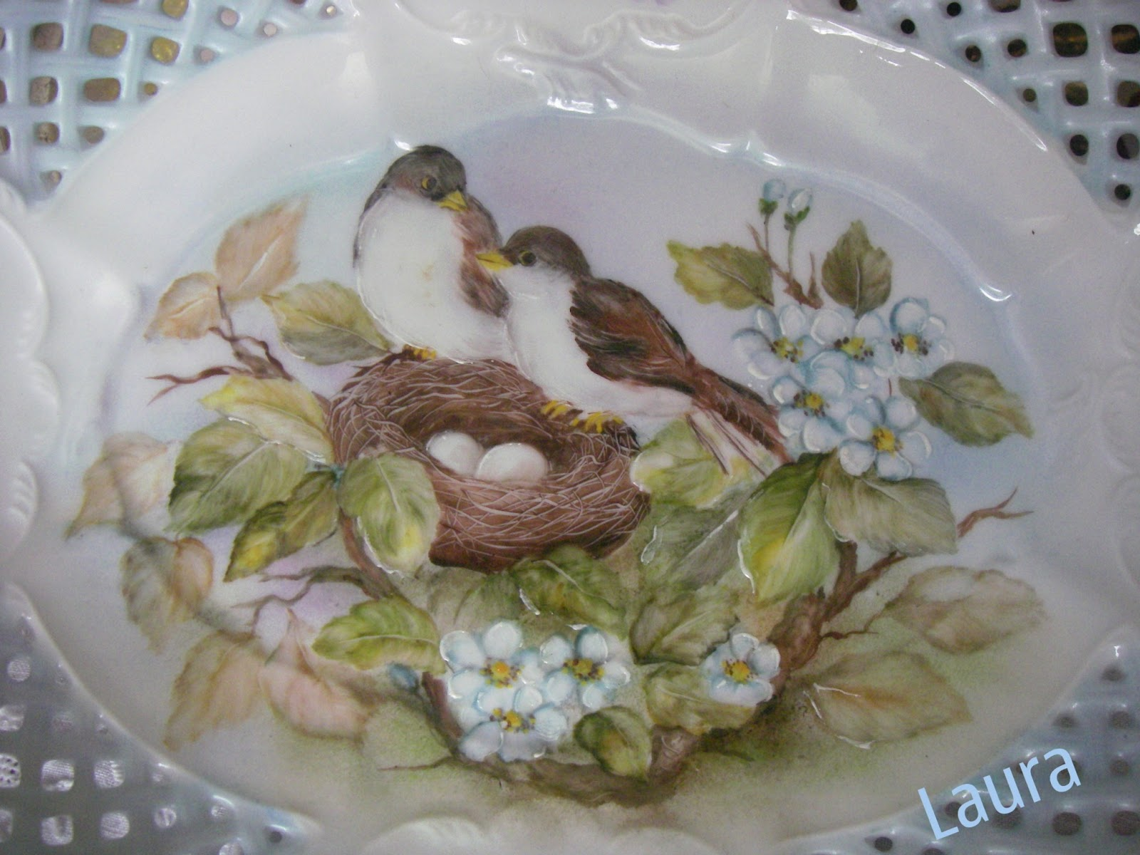 creativo alzatina Fiori : ... ... ? by tesselleelle ? : Alzatina dipinta a mano su porcellana