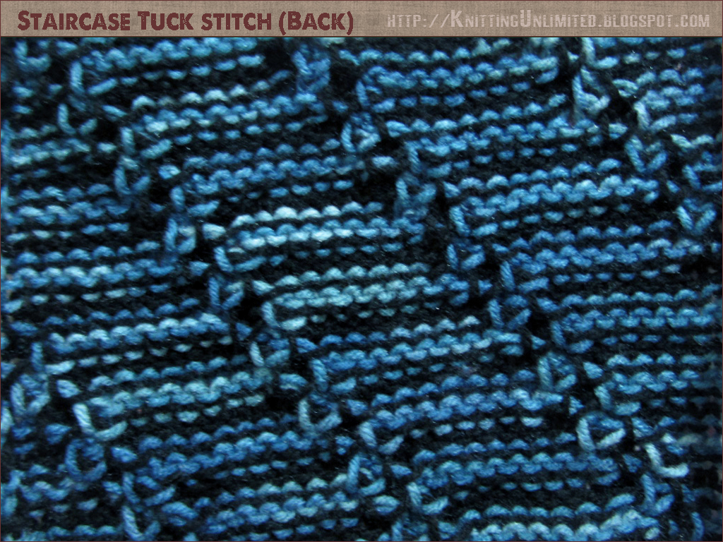 Staircase tuck knitting stitch (back)