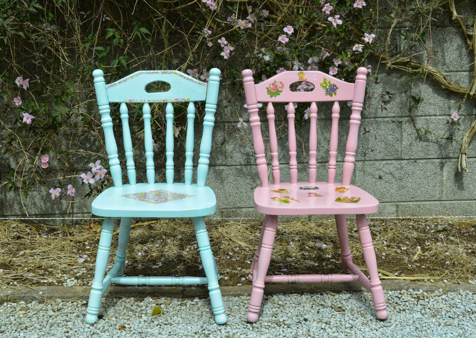 Diy upcycled chairs shabby chic inspired fawns fables - Upcycling ideas for furniture ...