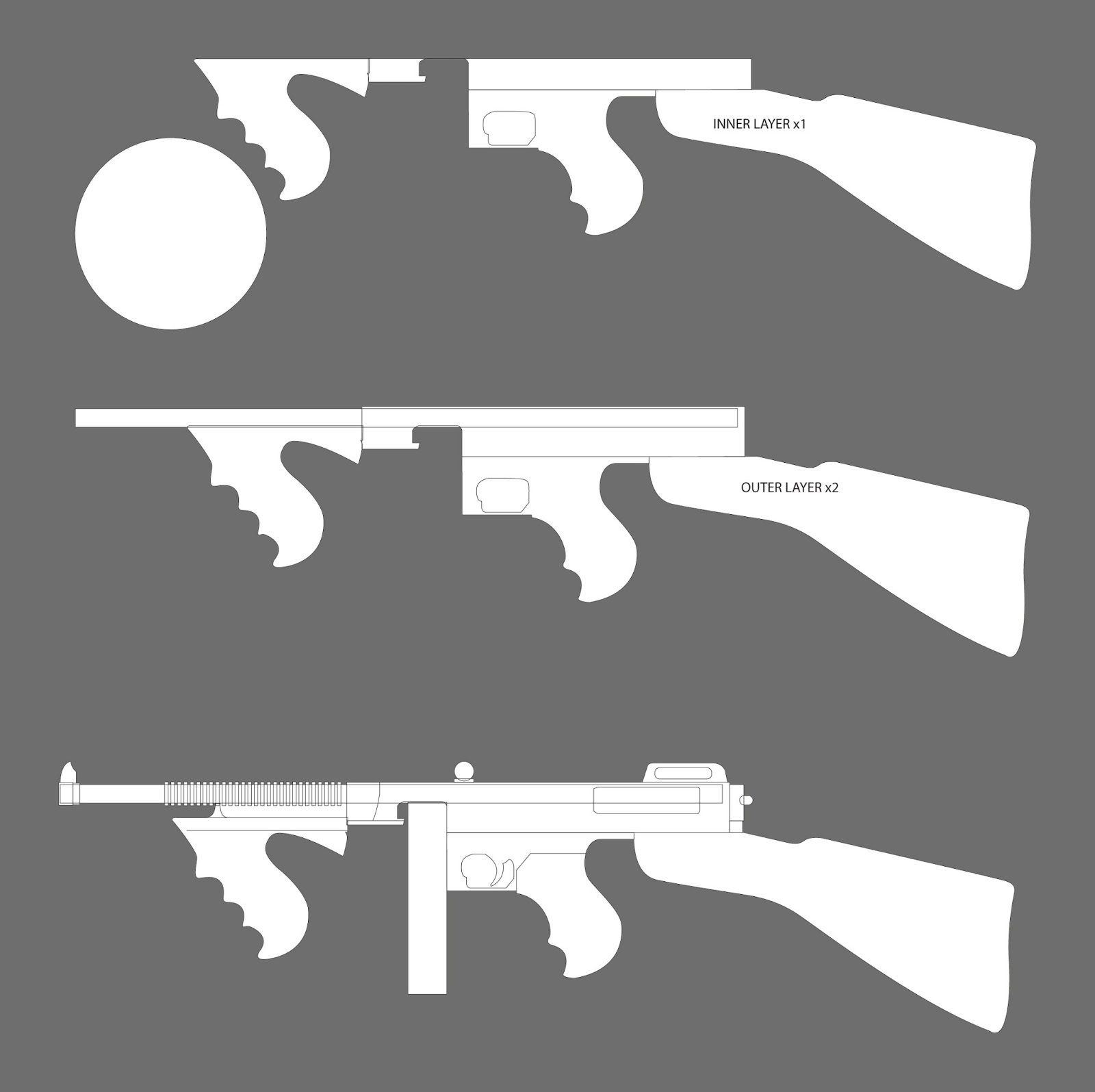 Papercraft Gun Templates submited images.