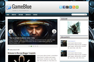 Game Blue Blogger Template