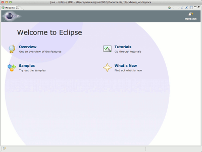 Blackberry Eclipse tutorial for Mac