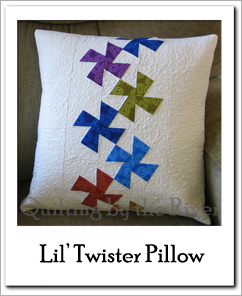 Lil Twister pillow tutorial at Freemotion by the River