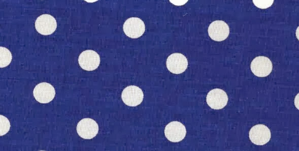 Puntos blancos sobre tela azul