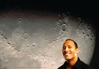 Desktop Wallpapers of Dwayne Johnson The Rock Smiling While You Work at Moon Light Desktop wallpaper